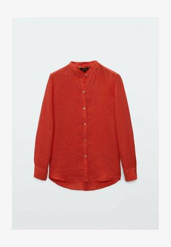 UNIFARBENES  - Button-down blouse - orange