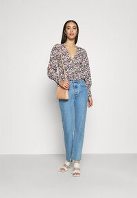 Missguided - SHIRRED CUFF FRILL BLOUSE - Long sleeved top - multi - 1