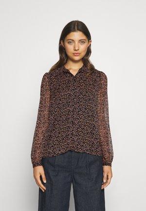 PCCLUME  - Skjorte - black/ lilac/muskmelon