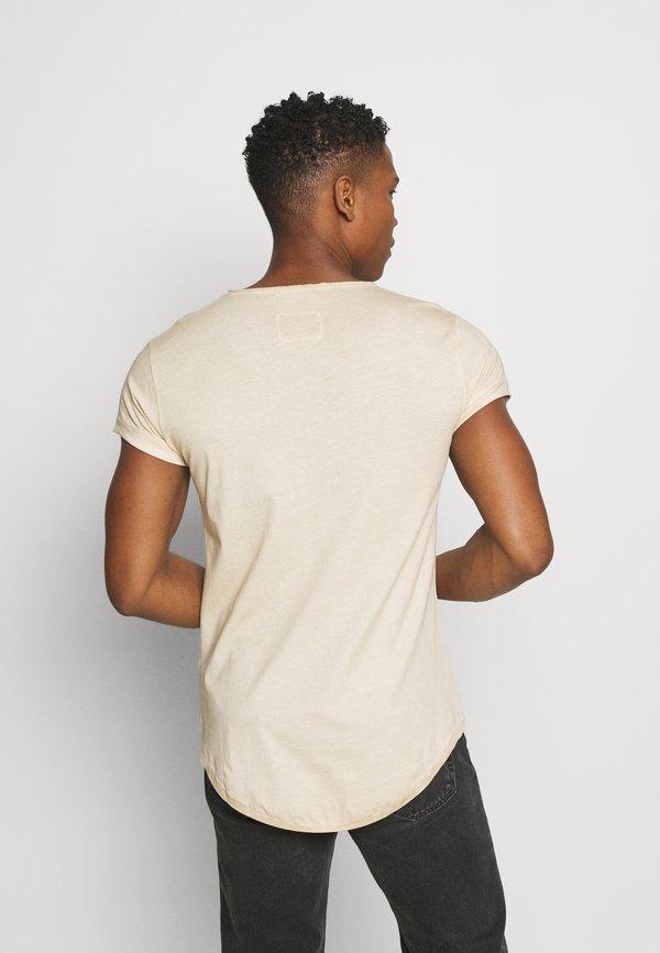 Tigha MILO - T-shirt z nadrukiem - vintage desert sand/piaskowy Odzież Męska AMEG
