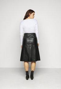 Pieces Curve - PCSURIANNA MIDI SKIRT CURVE - A-line skirt - black - 2