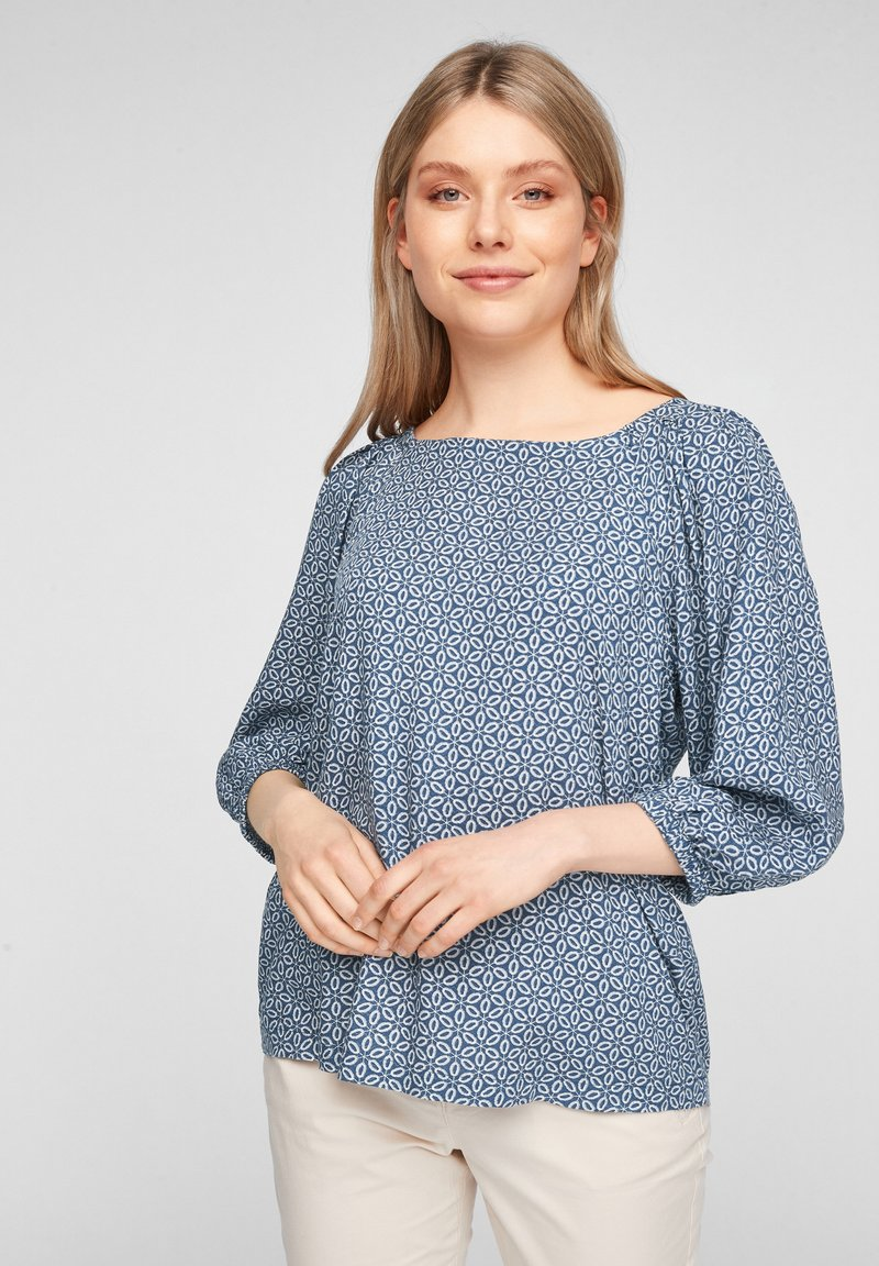 s.Oliver - Blouse - faded blue embroidery