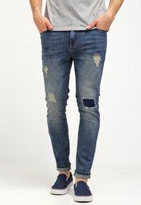 Pier One - Jeans slim fit - destroyed denim - 0