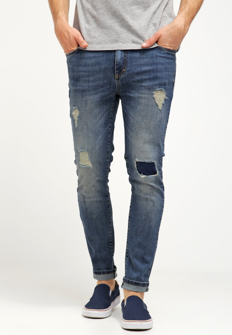 Pier One - Jeans slim fit - destroyed denim