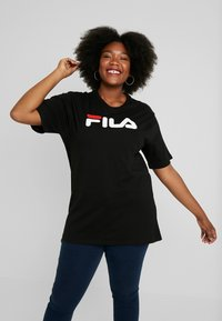 Fila Plus - PURE SHORT SLEEVE - T-shirt con stampa - black - 0