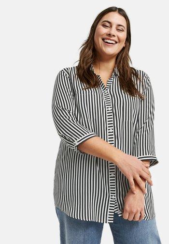 MIT STREIFEN-DESSIN - Button-down blouse - black gemustert