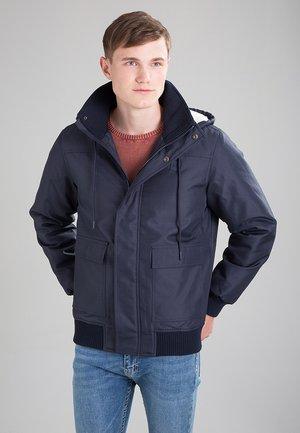 HEAVY HOODED JACKET - Light jacket - navy
