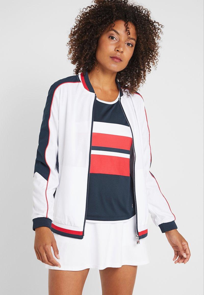 Fila - JACKET AMANDA - Sportovní bunda - white/blue/red