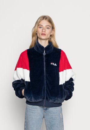 ELIN FAKE FUR JACKET - Winter jacket - black iris bright white true red