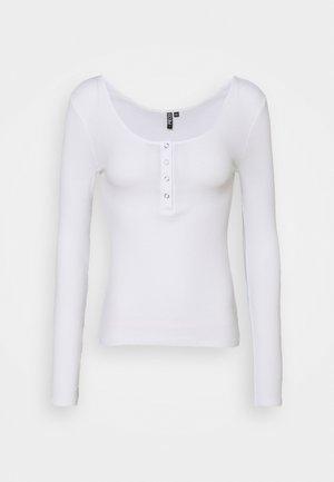PCKITTE - Topper langermet - bright white