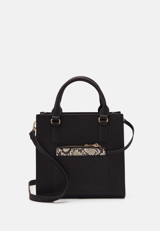 Handbag - black/beige