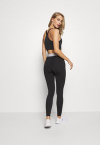 Even&Odd active - HIGH WAIST BANDED LEGGING - Legginsy - metallic grey - 2
