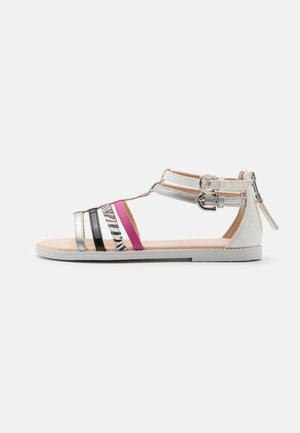 KARLY GIRL - Sandals - white/silver/black