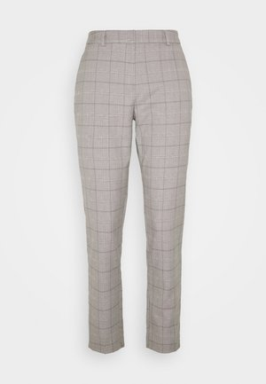 TALL GREY CHECK ANKLE GRAZER - Trousers - light grey
