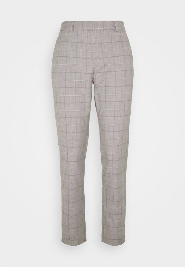 TALL GREY CHECK ANKLE GRAZER - Broek - light grey