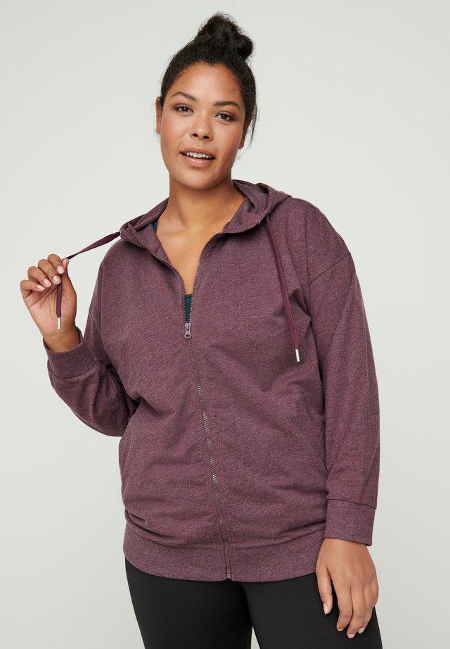 veste en sweat zippée - purple