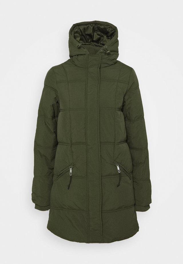 THE MOTHER MID LENGTH PUFFER - Winterjas - khaki