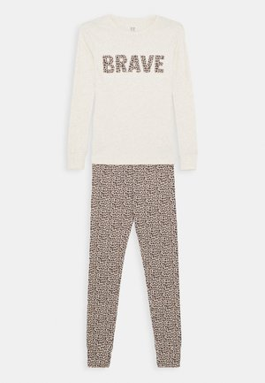 GIRL BRAVE SET - Pyjama set - heather grey