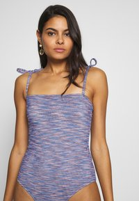 aerie - ONE PIECE CHEEKY STRAIGHT NECK SPACE DYE - Badedrakt - navy - 3