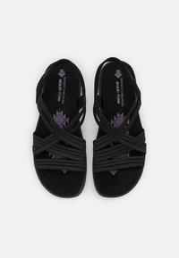 Skechers - REGGAE SLIM FIT - Sandals - black gore - 5