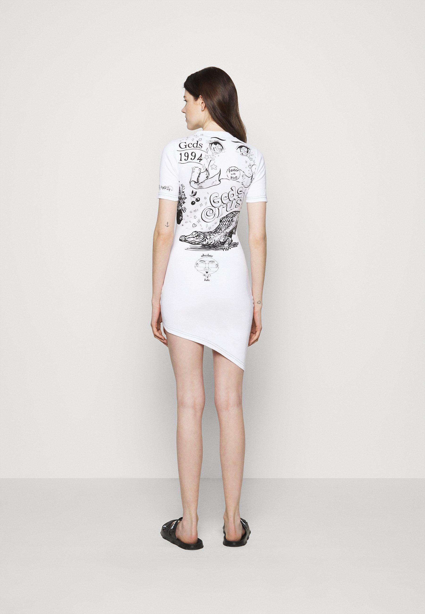 Women ASYMMETRICAL ELEMENT DRESS - Jersey dress