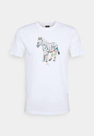SLIM FIT ZEBRA UNISEX - Print T-shirt - white