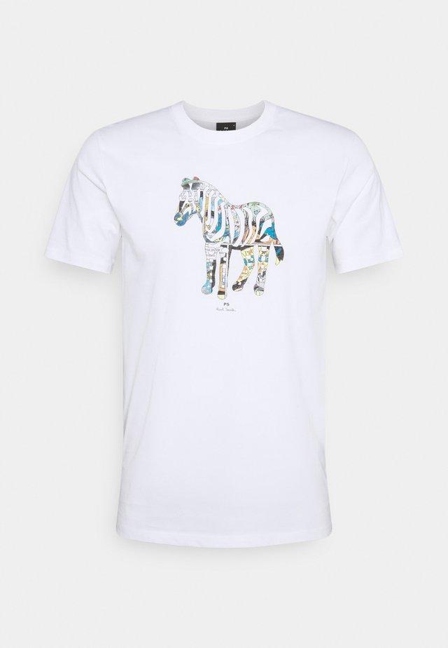 SLIM FIT ZEBRA UNISEX - T-shirt con stampa - white