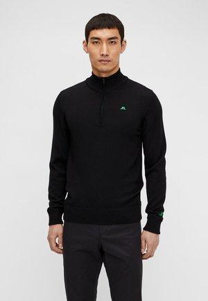 JLI KIAN ZIPPED - Stickad tröja - black