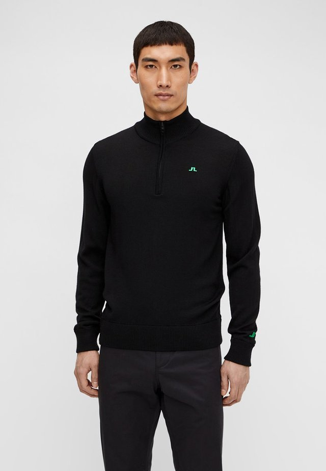 JLI KIAN ZIPPED - Jumper - black