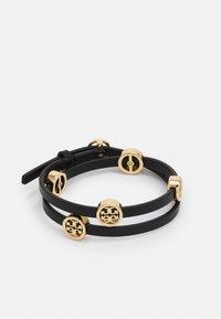 Tory Burch - MILLER DOUBLE WRAP BRACELET - Bracelet - gold-coloured/black - 0