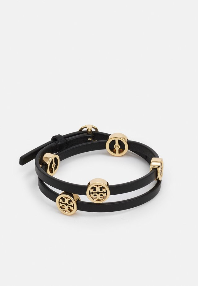 MILLER DOUBLE WRAP BRACELET - Bracelet - gold-coloured/black
