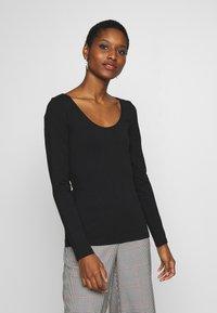 Anna Field - 2 PACK - Langærmede T-shirts - black/white - 2