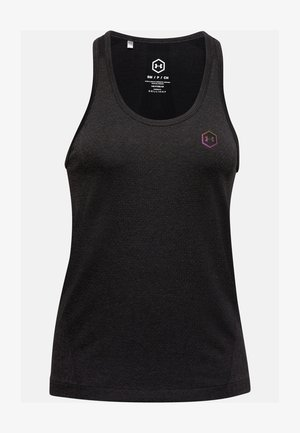 UA RUSH SEAMLESS TANK - Top - black