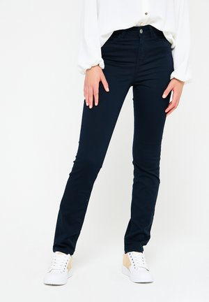 WITH HIGH WAIST - Jeans Skinny Fit - navy blue