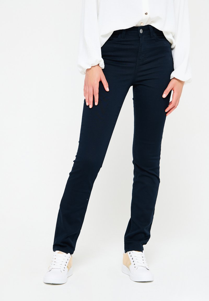 LolaLiza - WITH HIGH WAIST - Jeans Skinny Fit - navy blue