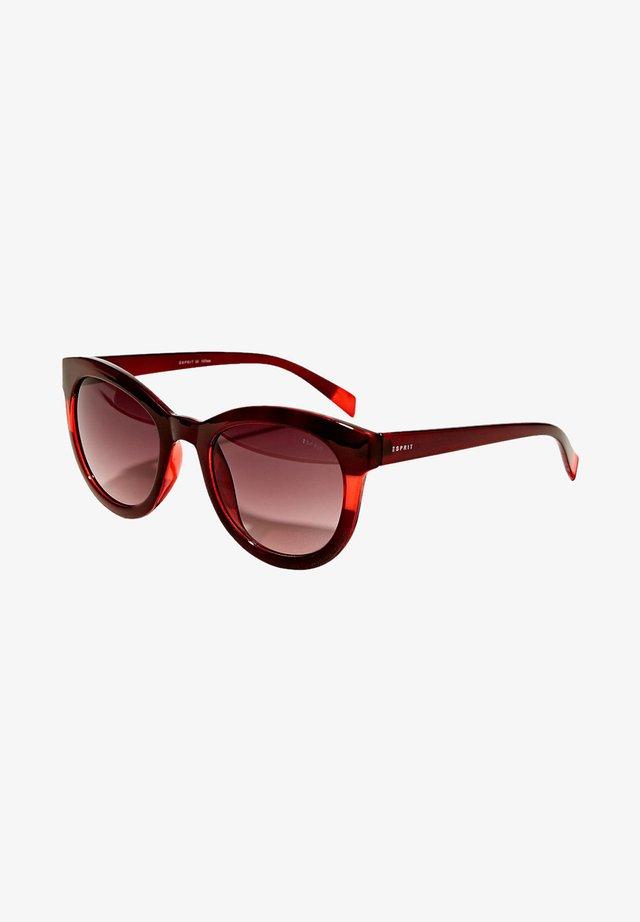 MIT TRANSPARENTEM STREIFEN - Sonnenbrille - red