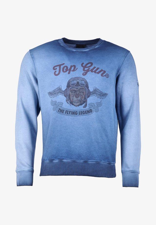 MIT SCHÖNEM AUFDRUCK SMOKING MONKEY - Sweater - blue
