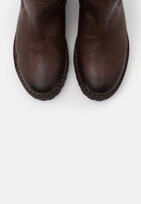 Shabbies Amsterdam - Vysoká obuv - dark brown - 5