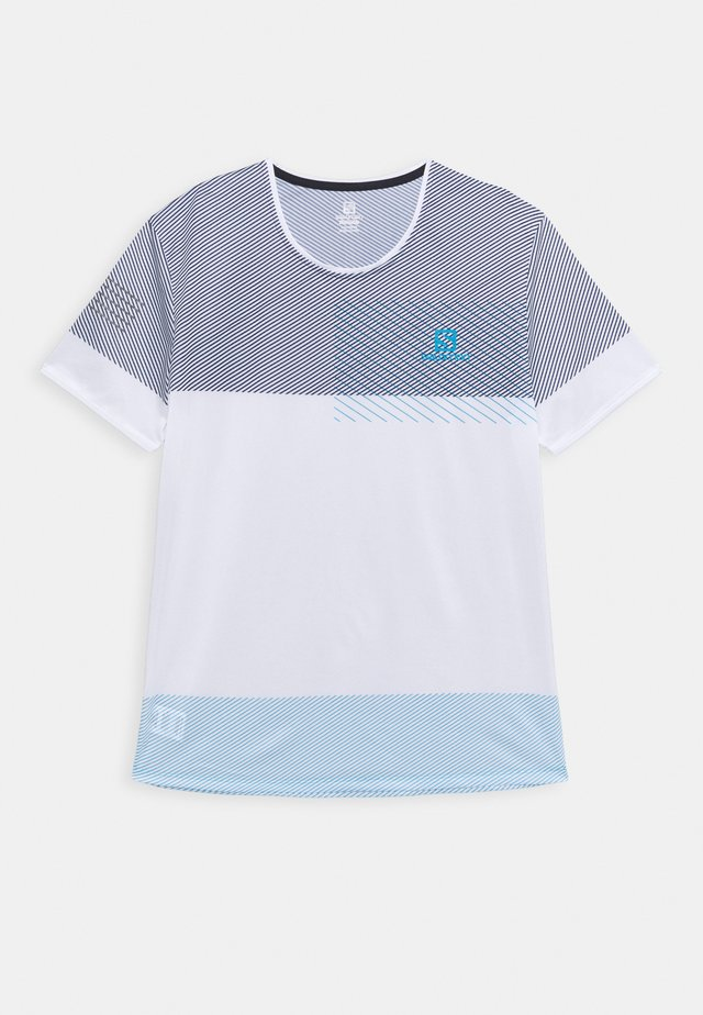 SENSE TEE - T-shirt imprimé - white/night sky/hawaiian ocean