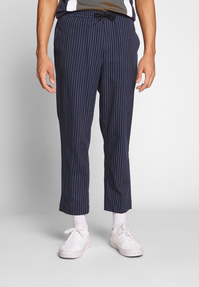 STRIPED TROUSER - Tygbyxor - navy