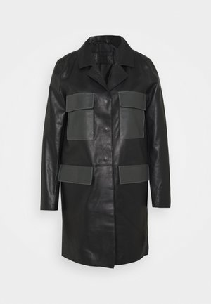 PAULINE CONTRAST POCKET COAT - Veste en cuir - black