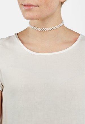 Necklace - silberfarben poliert