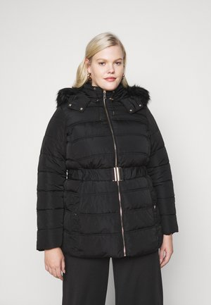 ELLIE BELTED FITTED PUFFER - Veste d'hiver - black