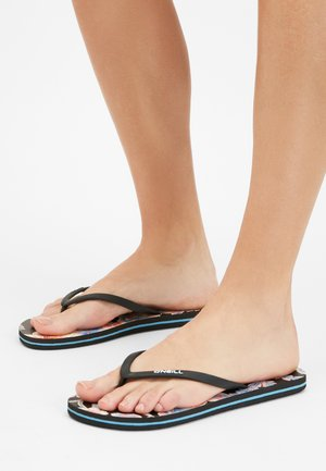 T-bar sandals - black with red