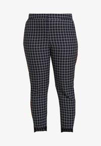 Simply Be - NEW WAISTBAND EXTERAL WINDOW PANE TAPERED TROUSERS - Trousers - navy - 5