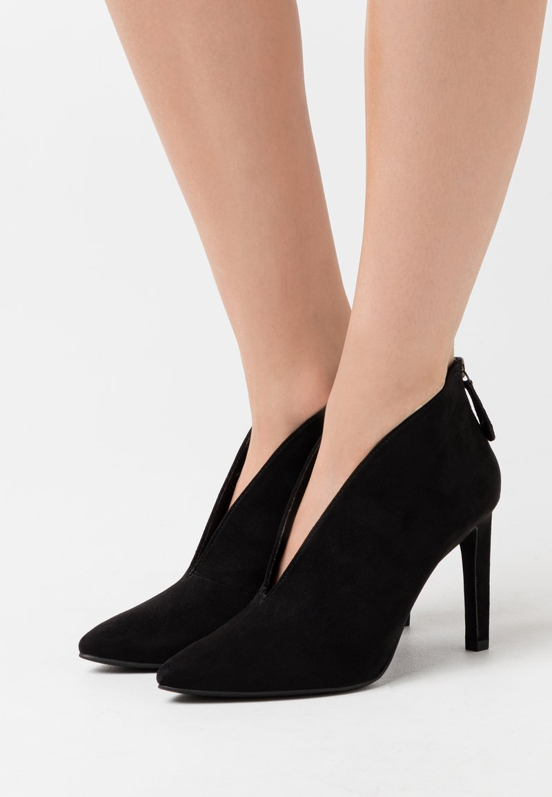 Marco Tozzi - High heeled ankle boots - black