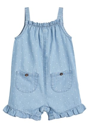 DENIM BLUE SPOT FRILL HEM PLAYSUIT (3MTHS-7YRS) - Jumpsuit - blue