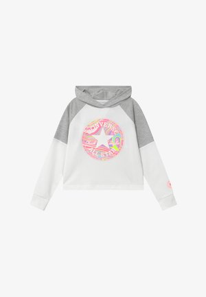 BLOCKED HOODIE - Mikina s kapucí - lunar rock heather
