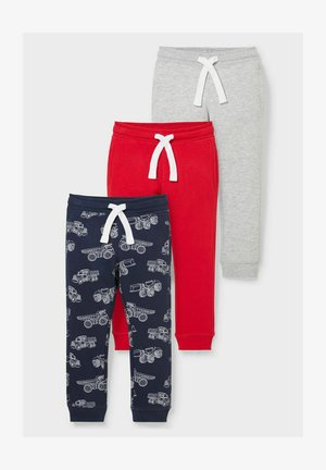 3 PACK - Tracksuit bottoms - red