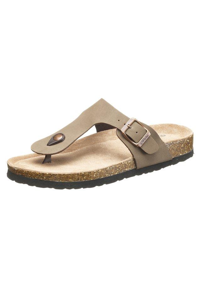 T-bar sandals - 3027 timber wolf
